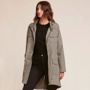Jack bb Dakota olive army hooded rain coat jacket